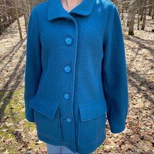 LL Bean Bellandi Italian Wool Coat Size Large